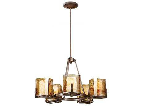 Feiss Aris Roman Bronze 28'' Wide Five-Light Chandelier