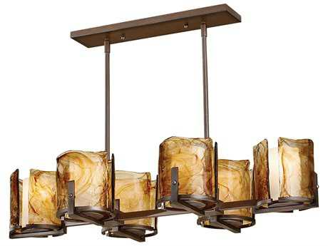 Feiss Aris Roman Bronze Six-Light Island Light