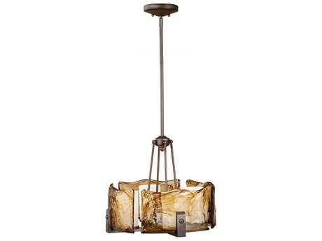Feiss Aris Roman Bronze 19.5'' Wide Four-Light Mini-Chandelier