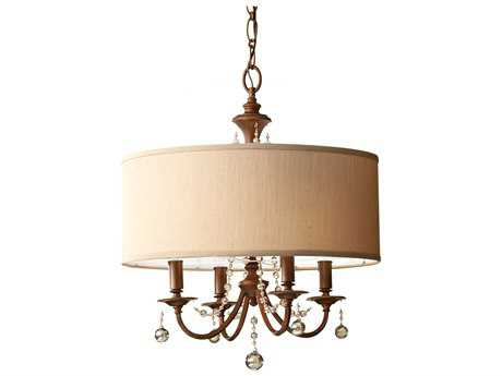Feiss Clarissa Firenze Gold 21'' Wide Four-Light Chandelier