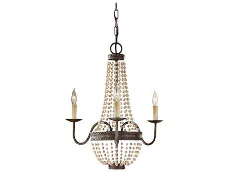 Feiss Charlotte Peruvian Bronze 18.5'' Wide Three-Light Mini-Chandelier