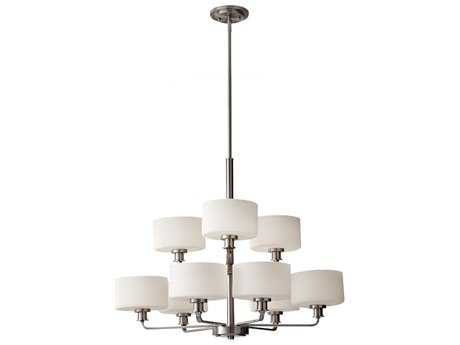 Feiss Kincaid Brushed Steel 29.5'' Wide Nine-Light Chandelier