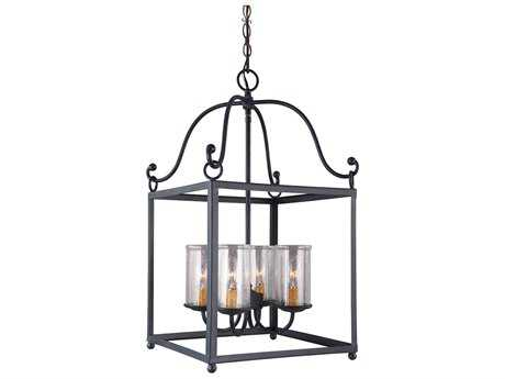 Feiss Declaration Antique Forged Iron Four-Light Pendant Light