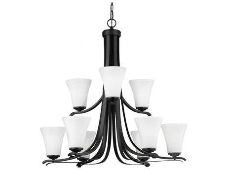 Feiss Summerdale Oil Rubbed Bronze 33'' Wide Nine-Light Chandelier