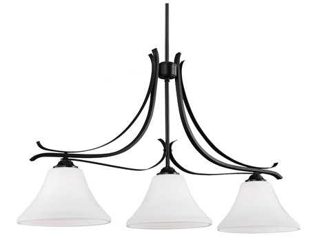 Feiss Summerdale Oil Rubbed Bronze Three-Light Island Light