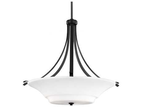 Feiss Summerdale Oil Rubbed Bronze Three-Light Pendant Light