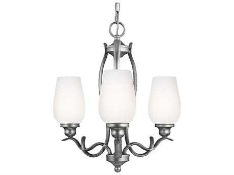 Feiss Standish Heritage Silver 18'' Wide Three-Light Mini-Chandelier