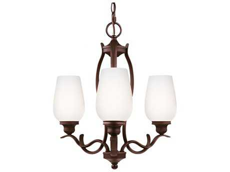 Feiss Standish Oil Rubbed Bronze With Highlights 18'' Wide Three-Light Mini-Chandelier