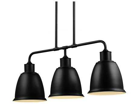Feiss Hobson Oil Rubbed Bronze Three-Light Island Light