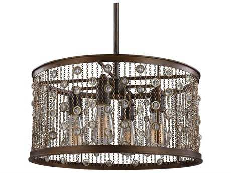 Feiss Colorado Springs Chestnut Bronze Four-Light Pendant Light