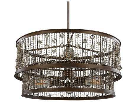 Feiss Colorado Springs Chestnut Bronze 24'' Wide Six-Light Mini-Chandelier