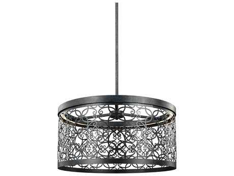 Feiss Arramore Dark Weathered Zinc 19'' Wide LED Outdoor Pendant Light