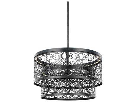 Feiss Arramore Dark Weathered Zinc Two-Light 24'' Wide LED Outdoor Pendant Light