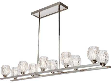 Feiss Rubin Polished Nickel Ten-Light 10.25'' Wide Island Light