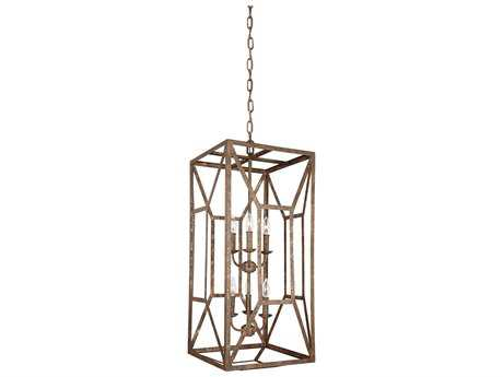 Feiss Marquelle Distressed Goldleaf Six-Light 16.5'' Wide Mini-Chandelier