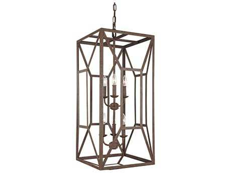 Feiss Marquelle Weathered Iron Six-Light 16.5'' Wide Mini-Chandelier