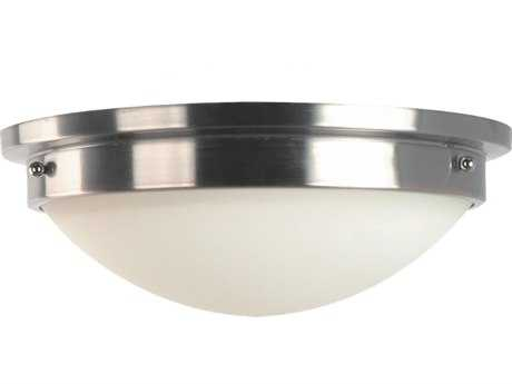 Feiss Gravity Brushed Steel Two-Light Flush Mount Light