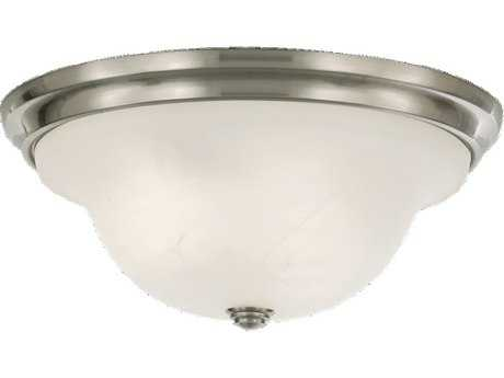 Feiss Vista Brushed Steel Three-Light Flush Mount Light