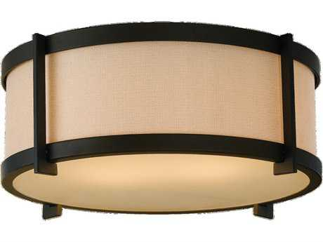 Feiss Stelle Oil Rubbed Bronze Two-Light Flush Mount Light