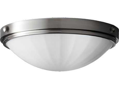 Feiss Perry Brushed Steel Two-Light Flush Mount Light