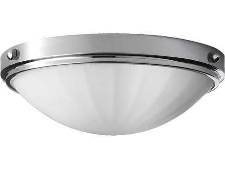 Feiss Perry Chrome Two-Light Flush Mount Light