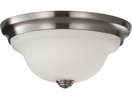 Feiss Beckett Brushed Steel Flush Mount Light