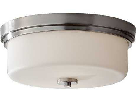 Feiss Kincaid Brushed Steel Two-Light Flush Mount Light