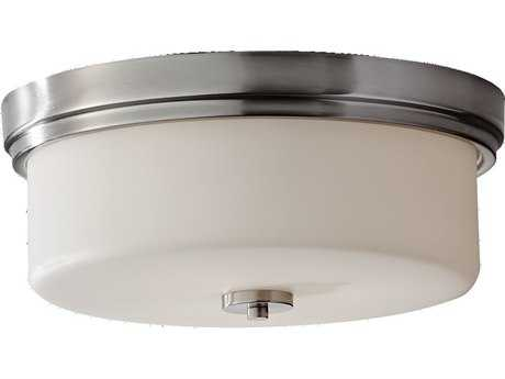 Feiss Kincaid Brushed Steel Three-Light Flush Mount Light