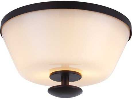 Feiss Huntley Oil Rubbed Bronze Two-Light Flush Mount Light