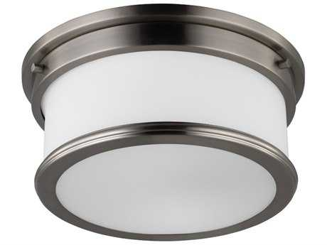 Feiss Payne Brushed Steel Two-Light Flush Mount Light