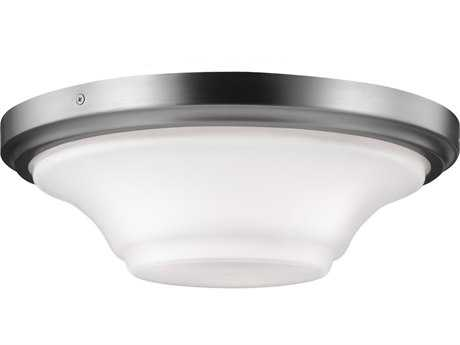 Feiss Summerdale Satin Nickel Three-Light Flush Mount Light