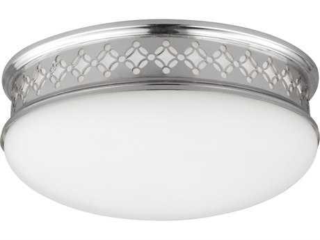 Feiss Devonshire Polished Nickel 2700K / 1120 Lumen LED Flush Mount Ceiling Light