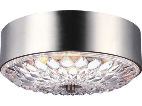 Feiss Botanic Aged Pewter Three-Light Flush Mount Light