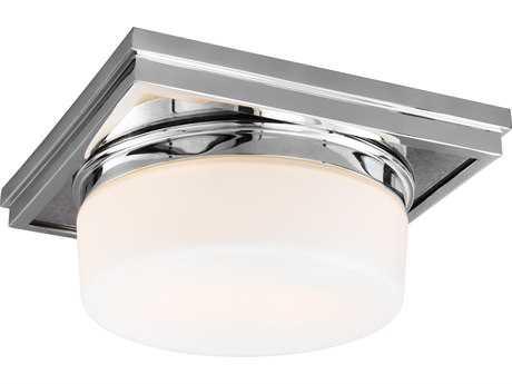 Feiss Mandie Chrome Two-Light 12'' Wide Edison Flush Mount Celling Light