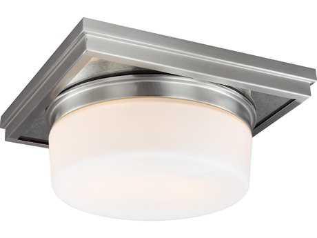 Feiss Mandie Satin Nickel Two-Light 12'' Wide Edison Flush Mount Celling Light