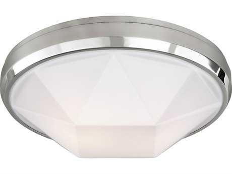 Feiss Gillis Chrome Two-Light 15'' Wide Edison Flush Mount Celling Light