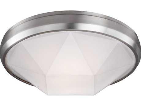 Feiss Gillis Satin Nickel Two-Light 15'' Wide Edison Flush Mount Celling Light