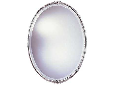 Feiss New London 24 x 33 Polished Nickel Wall Mirror