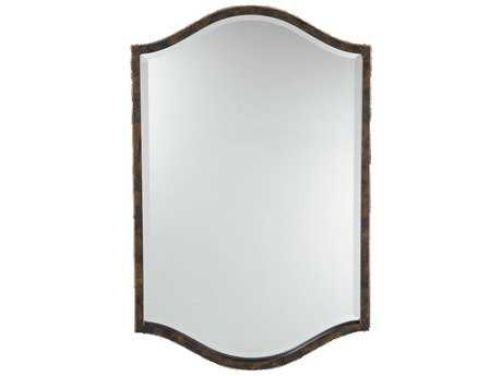 Feiss Drawing Room 21 x 33 Walnut Wall Mirror
