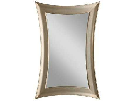 Feiss Georgette 30 x 45 Antique Silver Leaf Wall Mirror