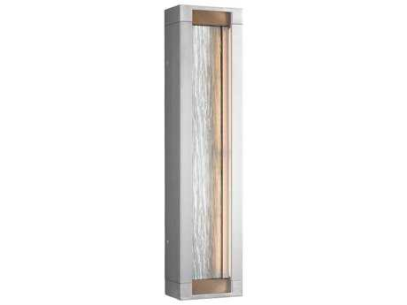 Feiss Mattix Painted Silver Four-Light 6'' Wide LED Outdoor Wall Light