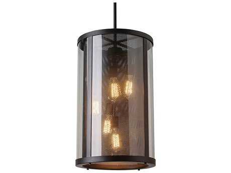 Feiss Bluffton Oil Rubbed Bronze Five-Light Outdoor Pendant Light