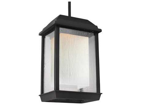 Feiss McHenry Textured Black 8.25'' Wide LED Outdoor Pendant Light