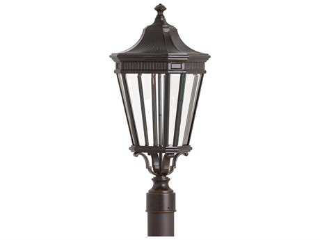 Feiss Cotswold Lane Grecian Bronze 9.5'' Wide LED Outdoor Wall Sconce with Glass Shade