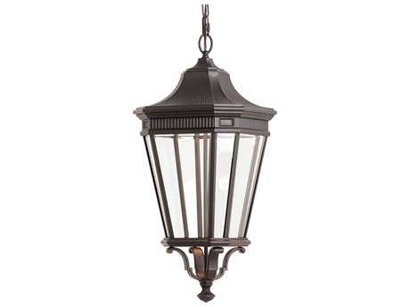 Feiss Cotswold Lane Grecian Bronze 12'' Wide LED Outdoor Wall Sconce with Glass Shade