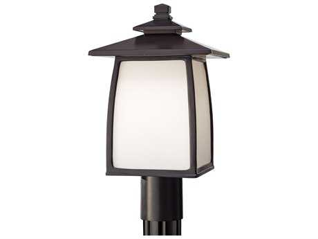 Feiss Wright House Oil Rubbed Bronze 9'' Wide LED Outdoor Wall Sconce with White Opal Etched Glass Shade