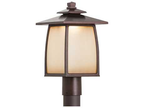 Feiss Wright House Sorrel Brown 9'' Wide LED Outdoor Wall Sconce with Striated Ivory Glass Panel Shade