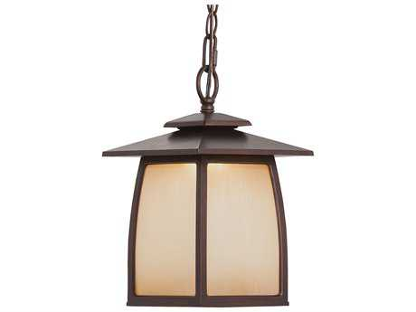 Feiss Wright House Sorrel Brown 7.88'' Wide LED Outdoor Wall Sconce with Striated Ivory Glass Panel Shade