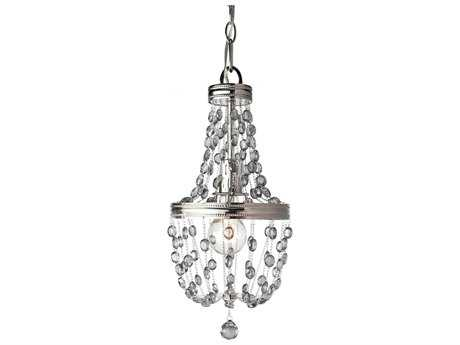 Feiss Malia Polished Nickel 8'' Wide Edison Bulb Mini-Pendant