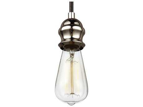 Feiss Corddello Aged Pewter 4.38'' Wide Mini-Pendant